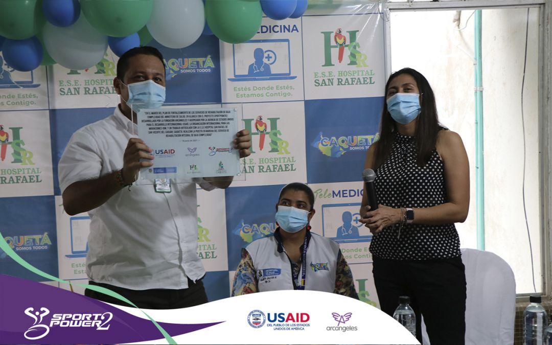 Gracias a la gestión de USAID y Arcángeles San Vicente del Caguán y Necoclí, cuentan con nuevos servicios de Rehabilitación